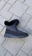 Ботинки женские оптом KG черные с мехом, фото 1