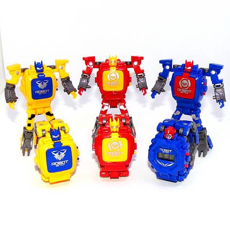 """Детские наручные часы игрушка """"Робот-трансформер"""" (желтый), фото 2"""