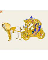 Карета музыкальная с лошадкой., фото 1