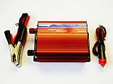Інвертор перетворювач 500W, 12V з вольтметром, фото 3