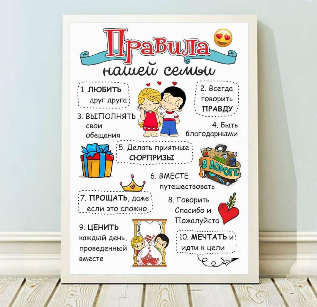 Постер ПРАВИЛА НАШЕЙ СЕМЬИ
