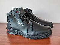 Ботинки мужские зимние черные теплые прошитые ( код 4411 ), фото 1