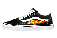 Женские кеды Vans Old Skool Art Fire Black White