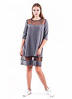 Платье женское со вставками из сетки