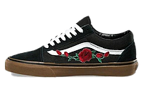 Кеды Vans Old Skool Roses Patch Black Gum