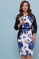 Красивое женское платье  синее, фото 1