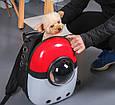 Рюкзак переноска для котов с иллюминатором Сумка для перевоза животных Красный с белым (M90390), фото 8