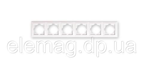 Gunsan Visage Рамка шестерная белая