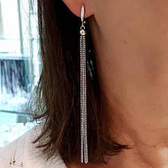 Серебряные серьги-цепочки - Серьги-висюльки серебро