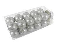 Гирлянда Тайские Шарики LTL GreyBroc Cotton Balls 20led, диам 6см, длина 330см на батарейках АА