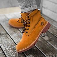 Timberland Authentics Roll Top Boots (термо) | ботинки без меха; женские; рыжие; Тимбэрлэнд