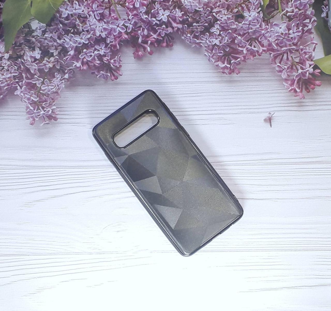 Чохол накладка Rhombus на Samsung S10 (2019), Black