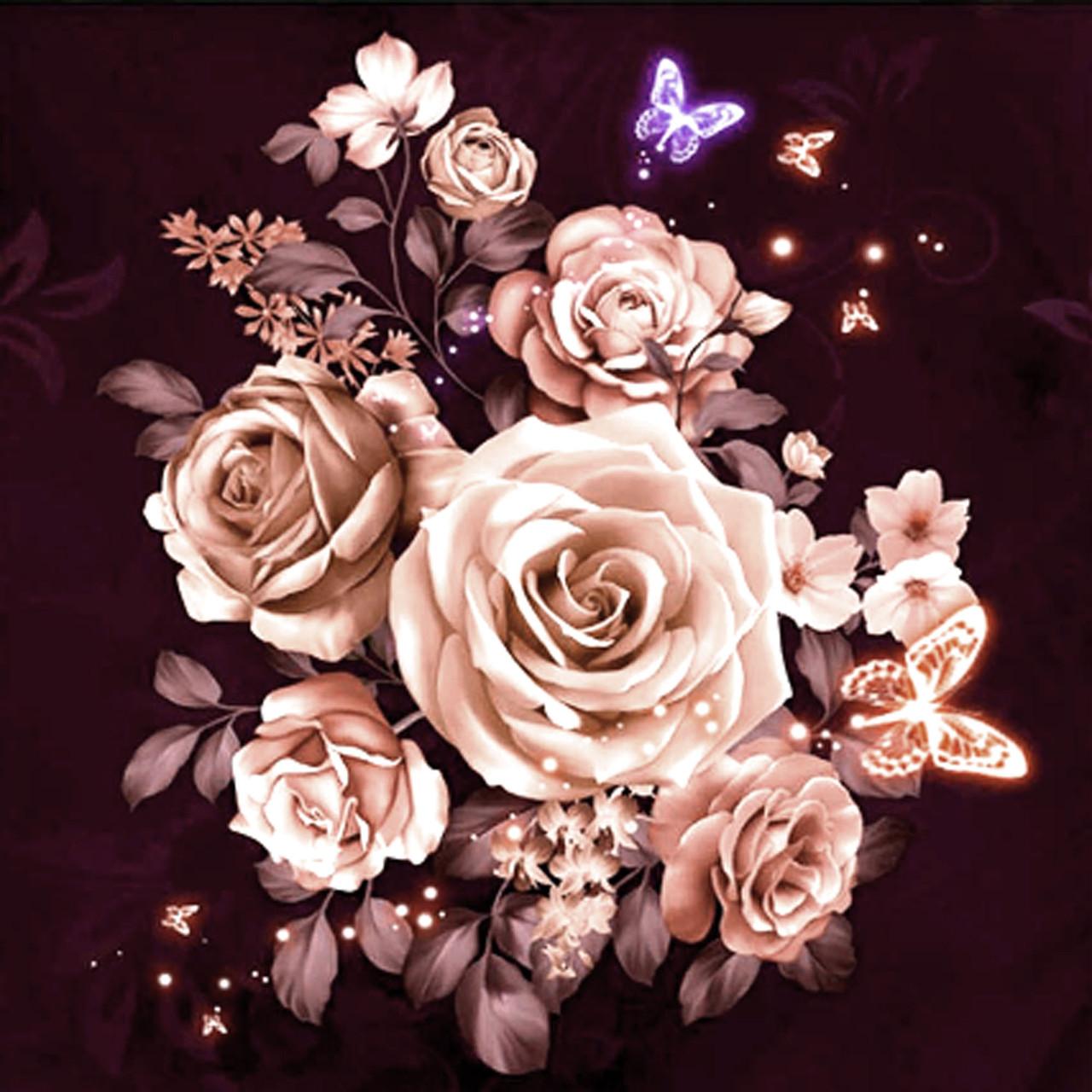 """Алмазна вишивка 40х40см - набір """"чайні Троянди"""""""