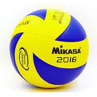 Мяч волейбольный Клееный PVC MIKASA №5 (MVA-330) VB-5930