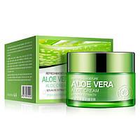 Освежающий и увлажняющий крем-гель для лица и шеи Aloe Vera. 50гр.(0104)