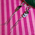 Серебряные серьги-цепочки с монетками - Серьги длинные серебряные, фото 2