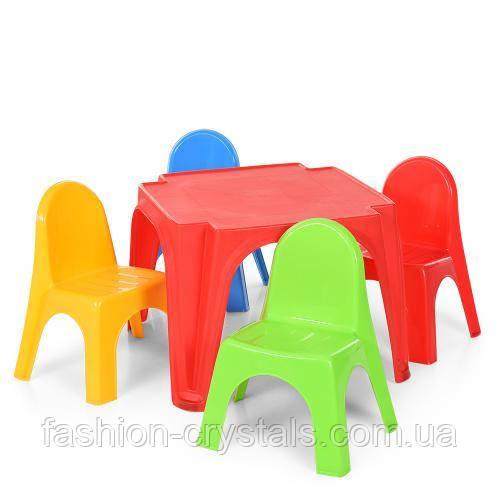 Детский комплект стол и 4 стула