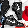 """Мужские зимние кроссовки Nike Air Force 1 Mid '07 LV8  """"Black"""", фото 5"""