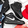 """Мужские зимние кроссовки Nike Air Force 1 Mid '07 LV8  """"Black"""", фото 7"""