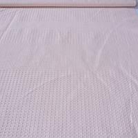 Вафельная ткань однотонная светлая пудра, ширина 52 см