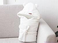 """Конверт одеяло на выписку """"Velvet"""", молочный"""