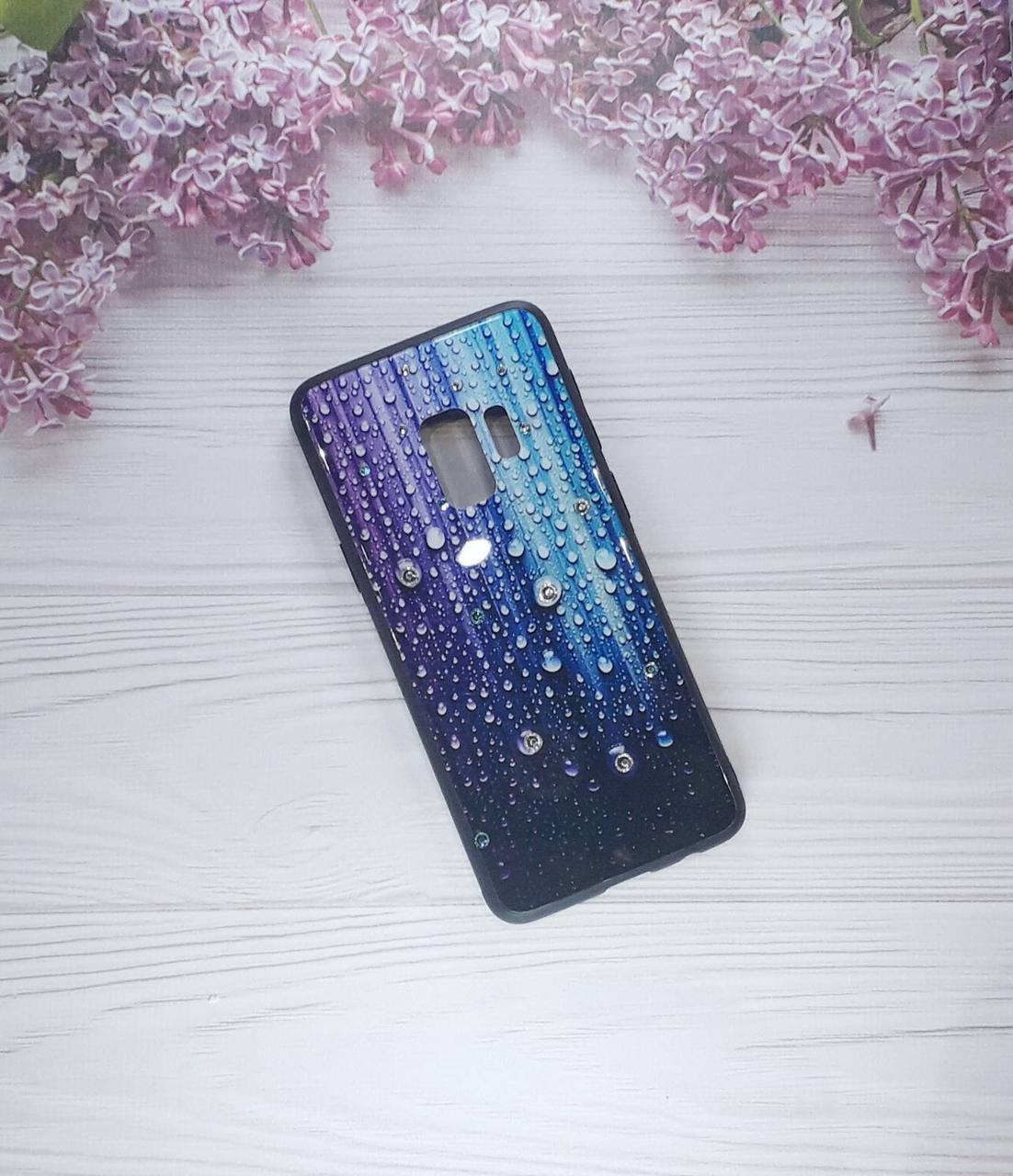 Чехол накладка Paint Glassна Samsung S9, Blue