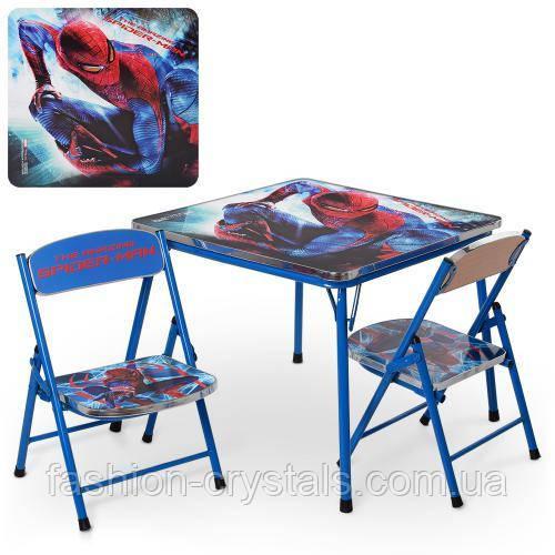 Складной комплект стол и 2 стула spider man DT21