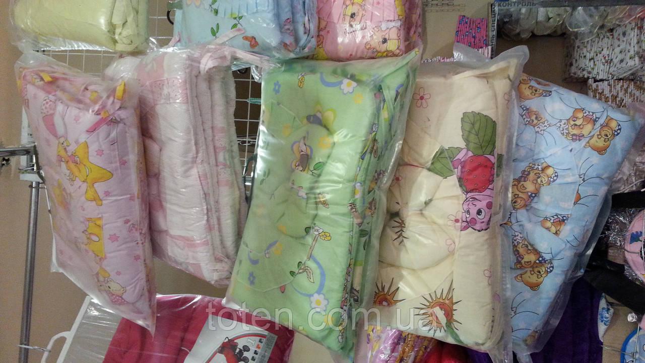 Захист для дитячого ліжечка + балдахін. Багато квітів