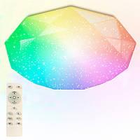 Люстра с пультом светодиодная Led потолочная Maysun LUMINARIA Almaz LED 25W RGB R330 SHINY 220V IP44