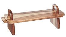 MC Artesa Дошка дерев'яна посуд сервіровки для закусок з акації, 37х12х13см