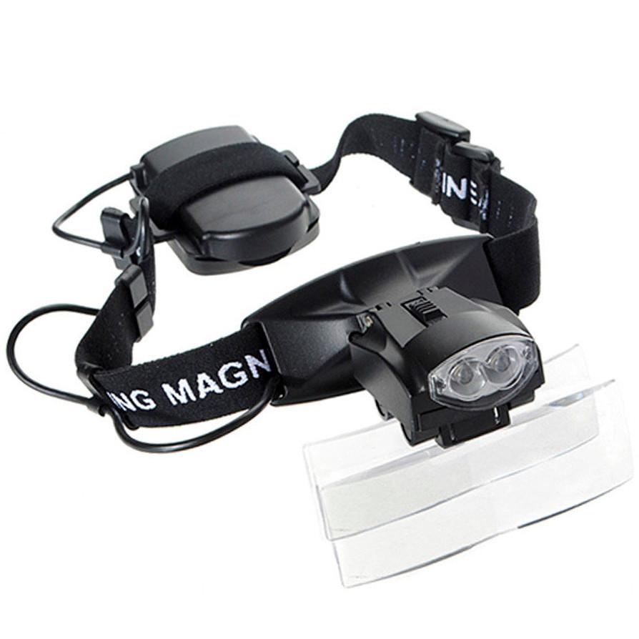 Бинокуляр Magnifier 9892С 6x з Led підсвічуванням, 5 лінз