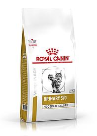 Сухой корм для кошек с мочекаменной болезнью Royal Canin Urinary S/O Feline Moderate Calorie 1,5 кг