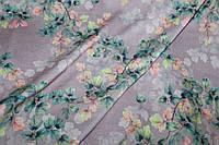 Ткань Ангора софт принт , нежная осень, фон сирень нежная пог. м., №1345, фото 1