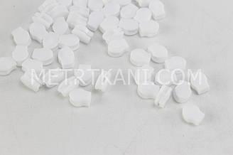 Бегунок пластиковый белый для рулонной молнии без подвески №БМ-101-2 Т3