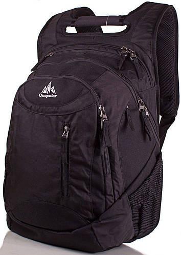Рюкзак стильный с отделом для ноутбука  30 л. Onepolar W1359-black черный