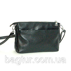 Женская кожаная сумочка-кроссбоди 35 черный флотар 01350101
