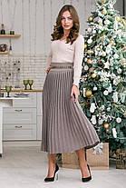 Женская вязаная юбка плиссе-макси Размер oversize 44-48, фото 2