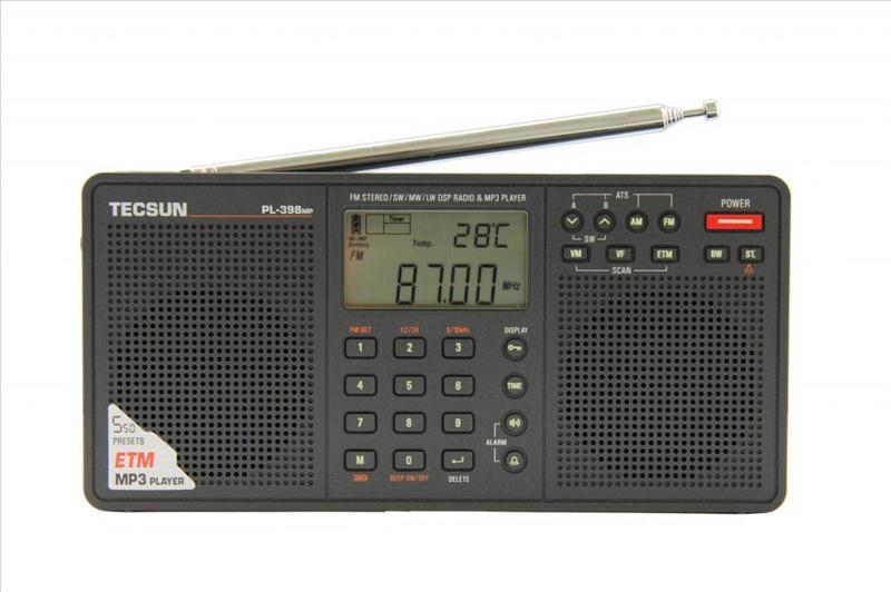 Радіоприймач з MP3 плеєром TECSUN PL-398MP