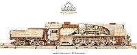 Механічна модель Локомотив з тендером V-Експрес ,UGEARS, фото 1
