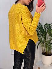 Женский теплый свитер в крупною вязку, фото 3