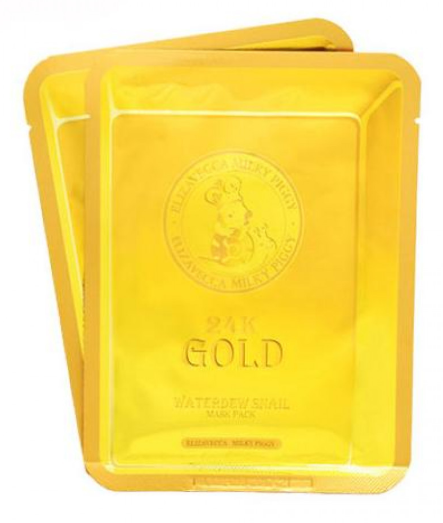 Тканинна Маска з золотом і секретом равлики Elizavecca 24k gold water dew snail mask pack 25 мл