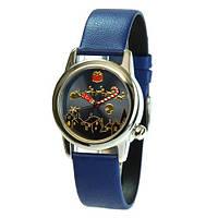 Часы Nomea Paris - Новогодние, диаметр циферблата 3,2 см.