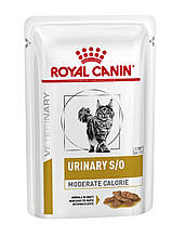 Вологий корм для кішок з сечокам'яною хворобою Royal Canin Urinary S/O Feline Moderate Calorie 85 г