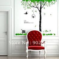 Наклейка интерьерная Виниловая  Дерево и гнездо