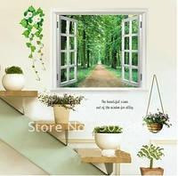 Интерьерная наклейка Окно в лес