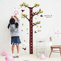 Виниловая Наклейка для детской комнаты Дерево-сантиметр. Для измерения роста