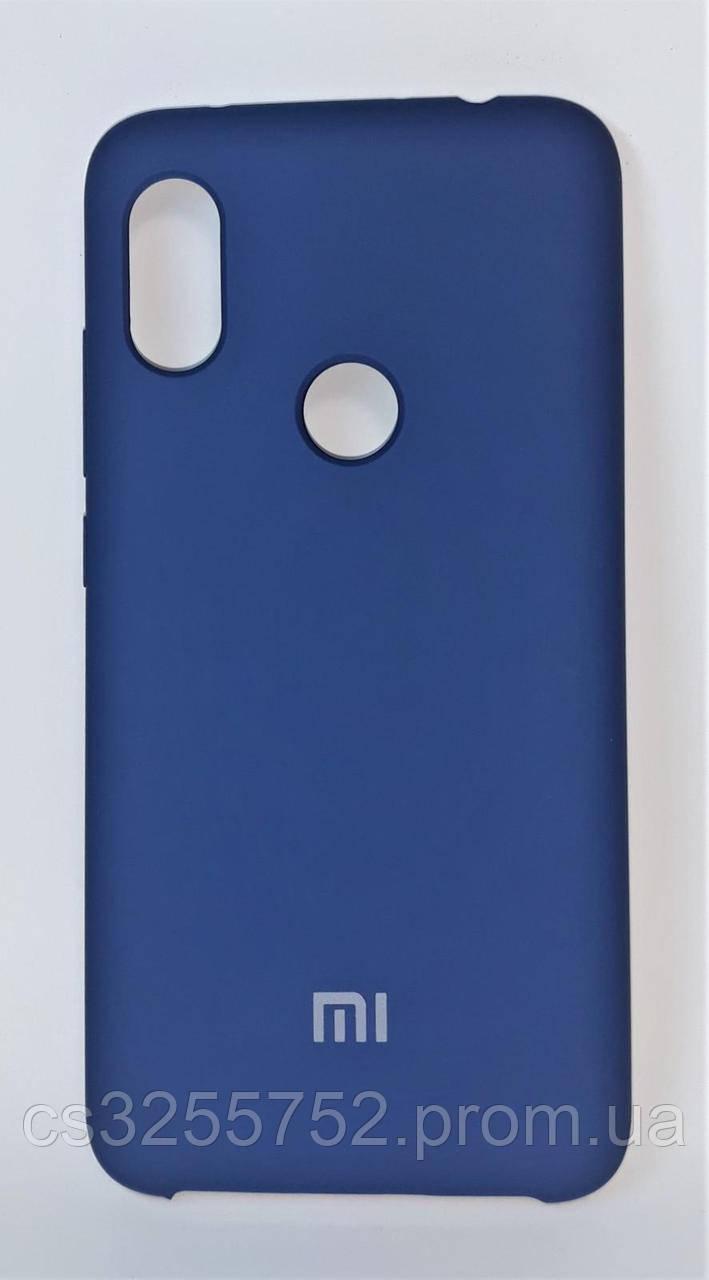 Силиконовая чехол-накладка для смартфона Xiaomi Redmi Note 6 Pro. Blue