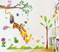 Набор интерьерных Виниловых наклеек: Винни Пух + Дерево