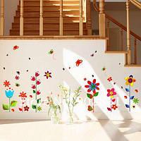 Наклейка на стену - Цветы