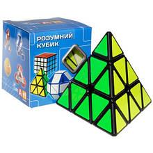 Smart Cube Pyraminx black | Пирамидка Смарт черная SCP1, головоломка